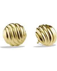 David Yurman - 'sculpted Cable' Earrings In Gold - Lyst