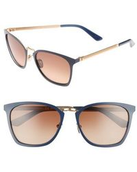 CALVIN KLEIN 205W39NYC - 54mm Square Sunglasses - Navy - Lyst
