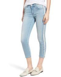 Habitual - Demi Tuxedo Stripe Skinny Crop Jeans - Lyst