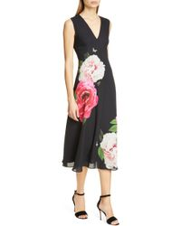 06dbeb926 Lyst - Ted Baker Embellished Maxi Dress in Black