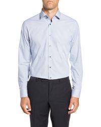 Calibrate - Trim Fit Stretch Non-iron Geometric Dress Shirt - Lyst