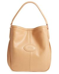 Longchamp | 'mystery' Leather Hobo | Lyst