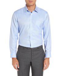 Nordstrom - Smartcare(tm) Trim Fit Herringbone Dress Shirt - Lyst
