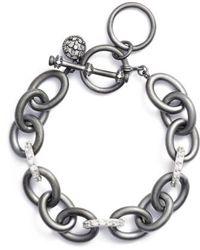 Freida Rothman - Contemporary Deco Heavy Chain Bracelet - Lyst