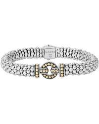 Lagos - 'enso' Two-tone Rope Caviar Bracelet - Lyst
