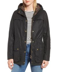 Barbour - X Liberty Blaise Hooded Waxed Jacket - Lyst