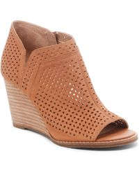 2a220c6804f Lyst - Lucky Brand Yahir Wedge Bootie in Gray