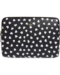 Kate Spade - Heartbeat Faux Leather Universal Laptop Sleeve - Lyst