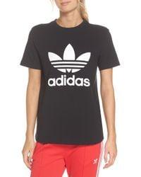 abbbf9d811e77f Lyst - adidas Originals Adidas Graphic Tee White in White