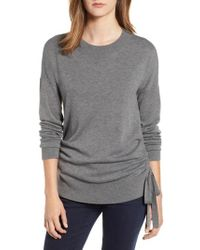 Chelsea28 - Ruched Side Sweater - Lyst 7ae80647d