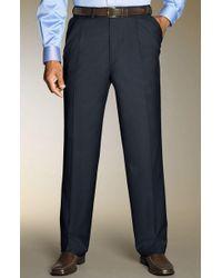 Santorelli - Luxury Serge Double Pleated Wool Trousers - Lyst