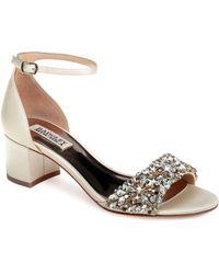 Badgley Mischka - Badgley Mischka Vega Crystal Embellished Sandal - Lyst