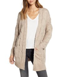 Dreamers By Debut - Chunky Cable Knit Cardigan - Lyst