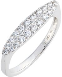 Bony Levy - Oval Diamond Stacking Ring (nordstrom Exclusive) - Lyst