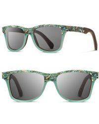 Shwood | 'canby' 55mm Polarized Seashell & Wood Sunglasses - Seashell/ Grey Polar | Lyst