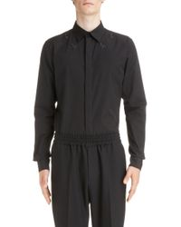Givenchy - Embroidered Star Woven Sport Shirt - Lyst