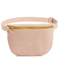 Clare V. - Perforated Leather Fanny Pack - Lyst