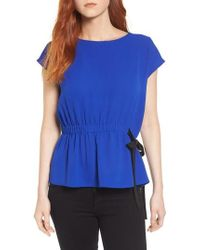 Pleione - Gathered Waist Side Tie Top - Lyst