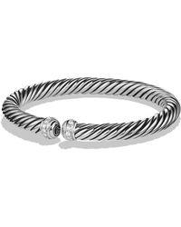 David Yurman - Cable Spira Bracelet With Diamonds - Lyst