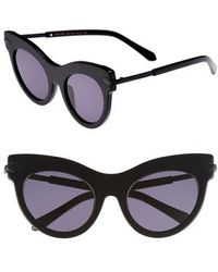Karen Walker - Miss Lark 52mm Cat Eye Sunglasses - Lyst