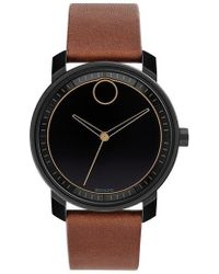 Movado | Bold Leather Strap Watch | Lyst