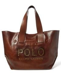 Polo Ralph Lauren - Leather Market Tote - Lyst