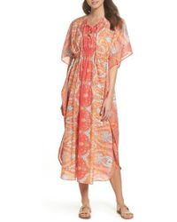 Echo - Sea Fan Paisley Cover-up Caftan - Lyst