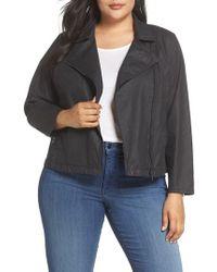 Eileen Fisher - Short Waxed Cotton Jacket - Lyst