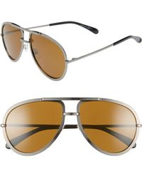 320585af7b61a Tom Ford  cliff  61mm Aviator Sunglasses - Shiny Ruthenium  Smoke ...