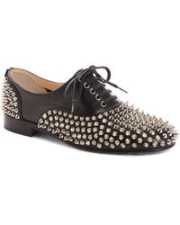 Christian Louboutin - Freddy Spiked Loafer - Lyst