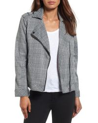 Two By Vince Camuto - Textured Knit Plaid Jacket - Lyst