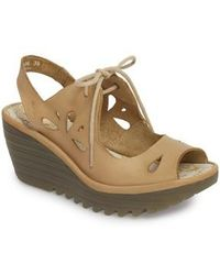Fly London - Yend Platform Wedge Sandal - Lyst