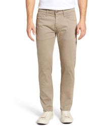 Mavi Jeans - Zach Straight Leg Twill Pants - Lyst
