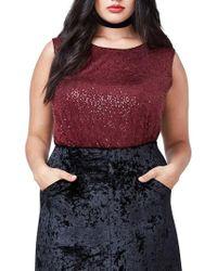 RACHEL Rachel Roy - Sequin Bodysuit - Lyst
