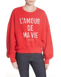 Cinq À Sept - Love Of My Life Graphic Pullover Sweater - Lyst