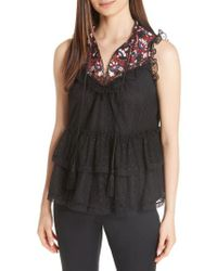 Kate Spade - Camelia Embroidered Top - Lyst