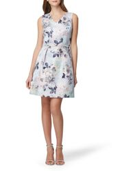 7fe5db872b Lyst - Tahari Plus Size Short Sleeve Floral Print Georgette Midi ...
