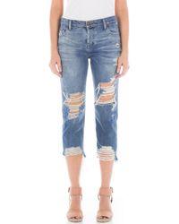 Fidelity - Dee Dee Ripped Crop Jeans - Lyst
