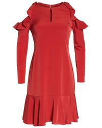Julia Jordan - Ruffle Cold Shoulder Dress - Lyst