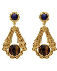 Ben-Amun - Multicolor Deco Drop Earrings - Lyst