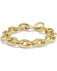 David Yurman - 'oval' Large Link Bracelet In Gold - Lyst