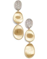 Marco Bicego - 'lunaria' Diamond Drop Earrings - Lyst