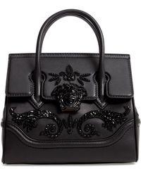 bc946c6aba3b Versace - Palazzo Empire Medium Crystal Embellished Leather Satchel - - Lyst