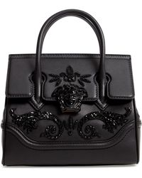 4eafb0631e32 Versace - Palazzo Empire Medium Crystal Embellished Leather Satchel - Lyst