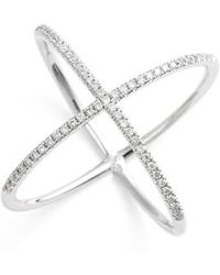 Bony Levy | Crossover Diamond Ring (nordstrom Exclusive) | Lyst