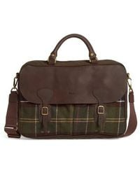 Barbour - Tartan Briefcase - - Lyst