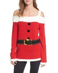 Love By Design - Santa Tunic Sweater - Lyst