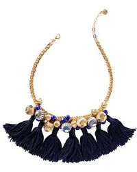 Lilly Pulitzer - Lilly Pulitzer Fringe Collar Necklace - Lyst