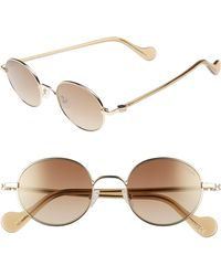 Moncler - 49mm Round Metal Sunglasses - Lyst