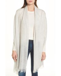 Nordstrom - Caslon Heathered Cashmere Gauze Scarf - Lyst